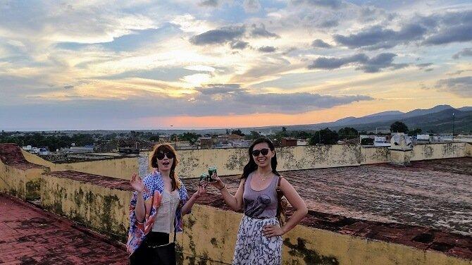 Trinidad Cuba rooftop sunset