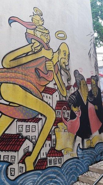 Lisbon street art graffiti