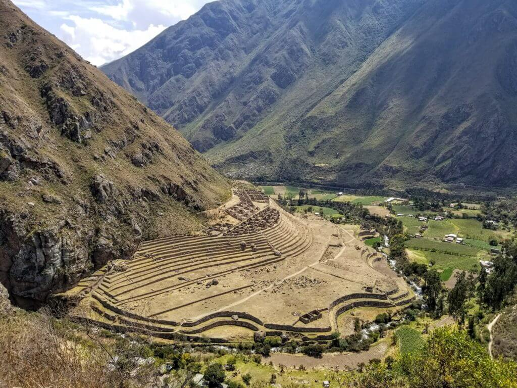 Llactapata Patallacta ruins Inca Trail