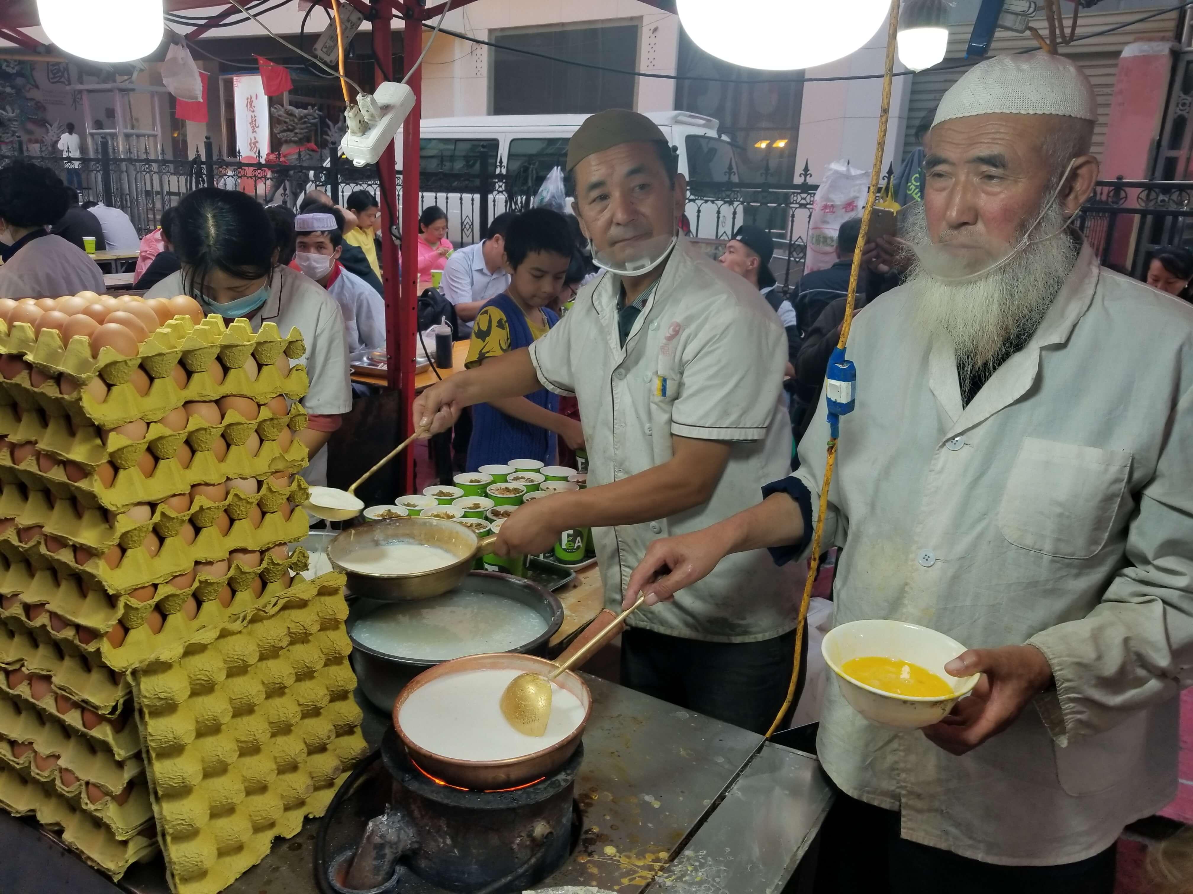 Lanzhou night market vendor