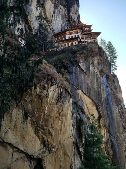 Tiger's Nest cliff