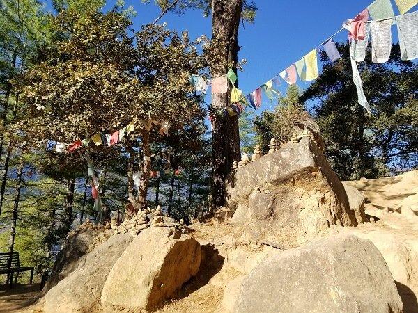 Tiger's Nest hiking trail stupas