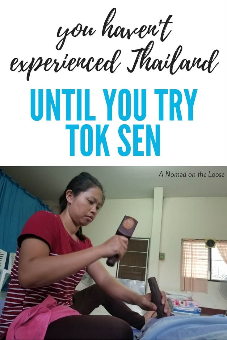Tok sen massage in Thailand
