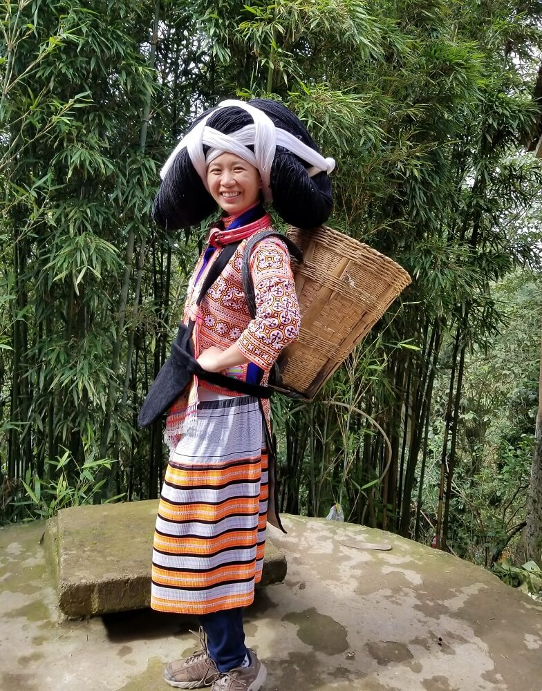 Longhorn Miao traditional costume
