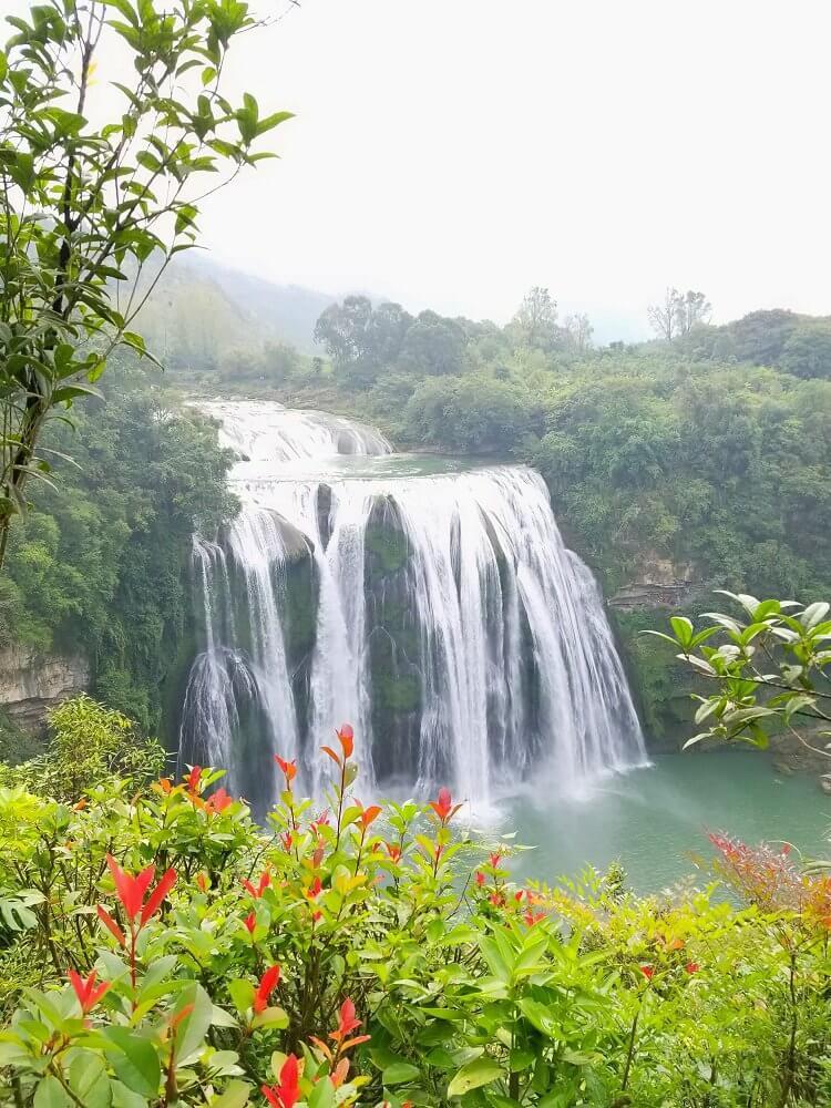 Huangguoshu Waterfall aerial