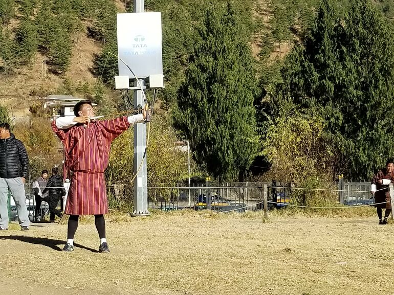 Archery Bhutan national sport
