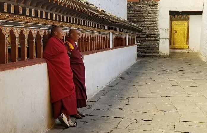 Buddhist monks Bhutan