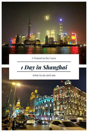 1 day in Shanghai what to do and see