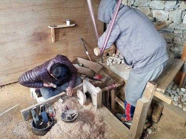 Bhutan wood turning
