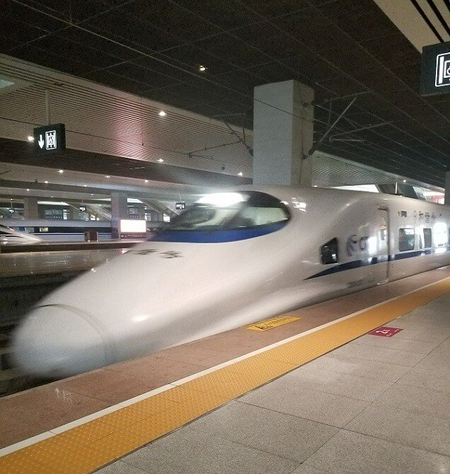 bullet trains in China