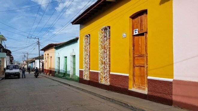 colorful houses Trinidad Cuba
