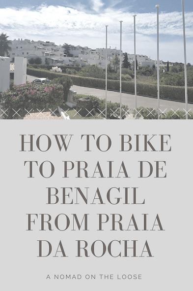 Biking to Praia de Benagil from Praia da Rocha