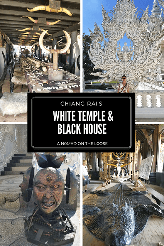 The White Temple and Black House of Chiang Rai: the heaven and hell temples