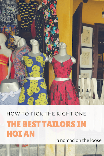 The best tailors in Hoi An: how to pick the best one