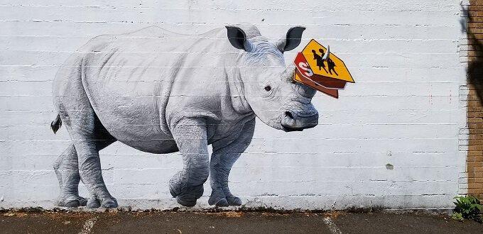 Josh Keyes rhino