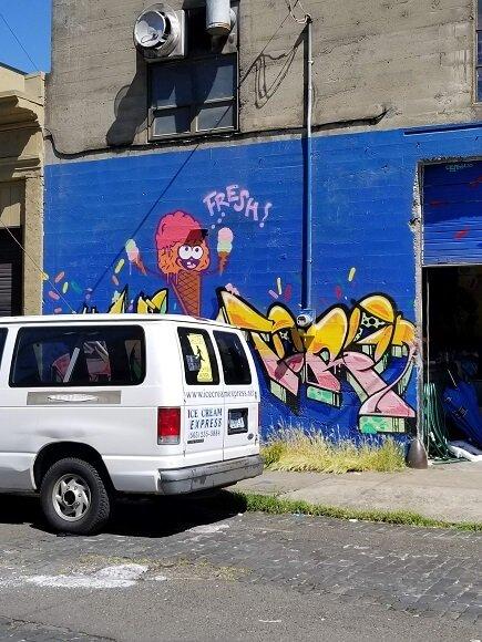 Portland ice cream graffiti