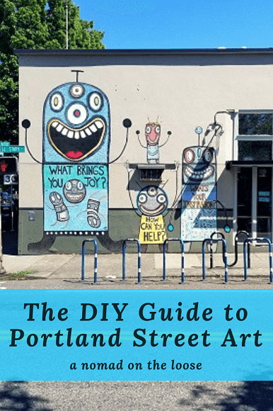 Portland street art crawl: join me on this DIY art crawl on a bike or on foot!