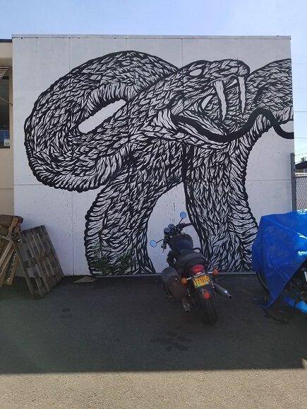 Snake mural by Spencer Keeton Cunningham