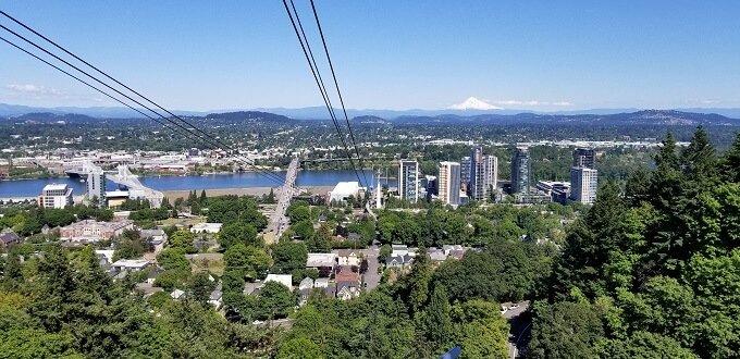 Portland aerial tram view