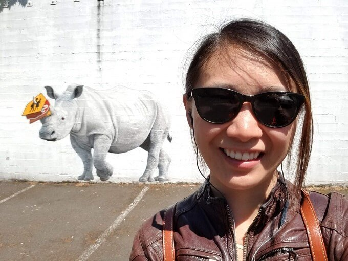 Portland street art rhino