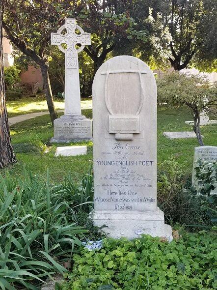 John Keats grave Rome