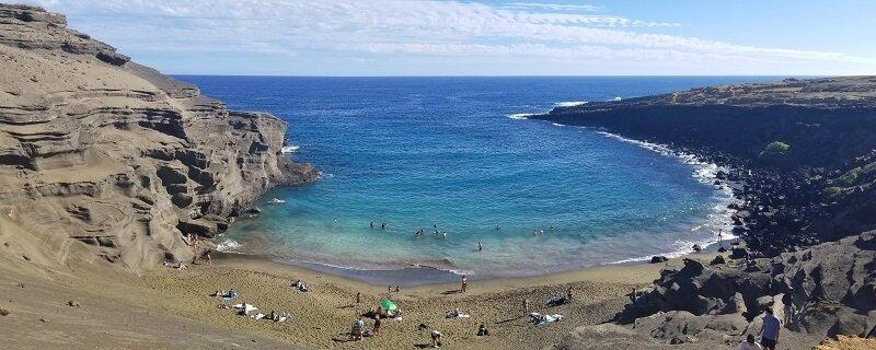 Papakōlea Beach or Mahana Beach