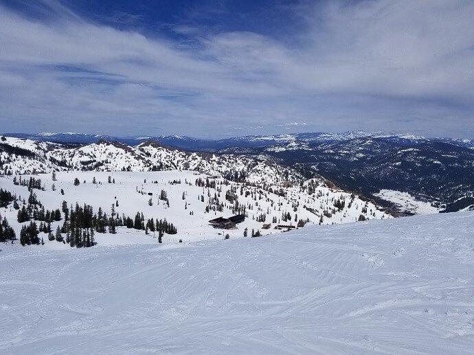 spring skiing no crowds
