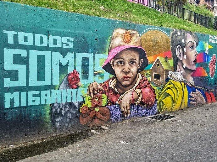 comuna 13 immigrants mural