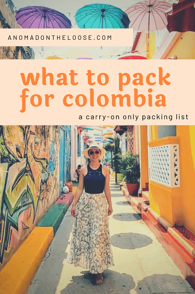 what to pack for colombia pinterest image