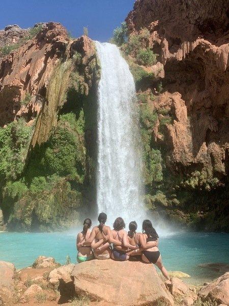 sitting in front of Havasu Falls