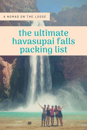havasupai falls packing list pin