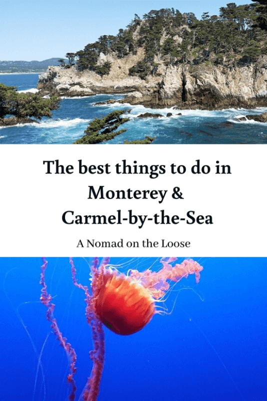 Best Things to Do in Monterey and Carmel pin