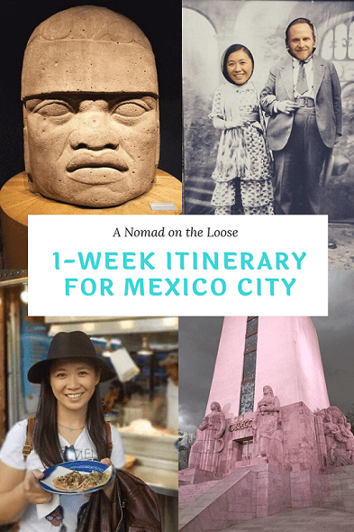 1 week itinerary Mexico City pin