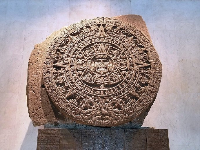 Aztec sun stone mexico city