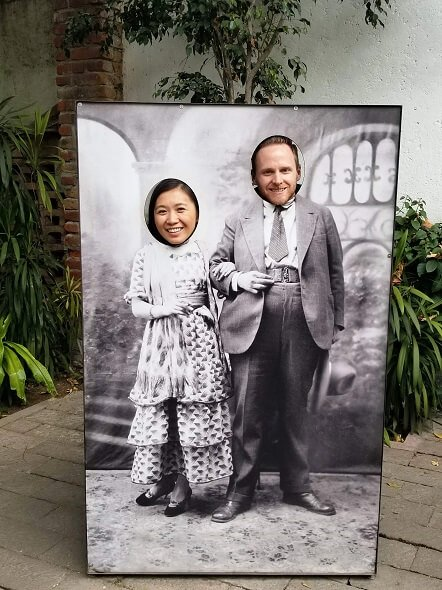 Frida Kahlo and Diego Rivera photo prop